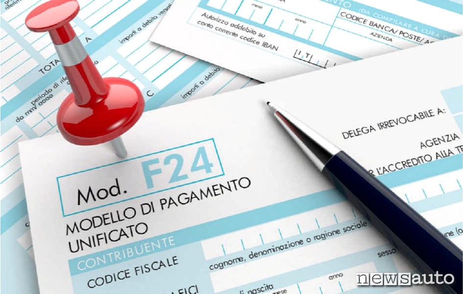 E' sul modello F24 che si può spendere il Credito d'Imposta per pagare Tasse, Iva e Contributi