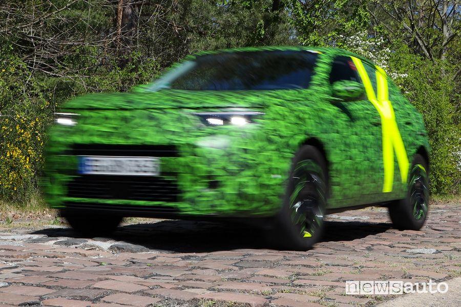 Opel Mokka test sospensioni sullo sconnesso in Germania