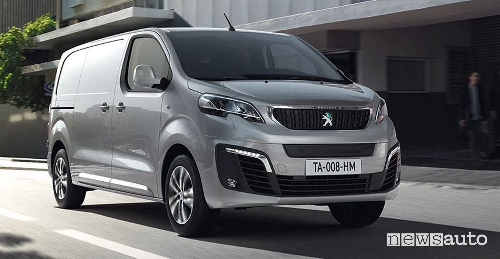 Vista anteriore Peugeot e-Expert elettrico