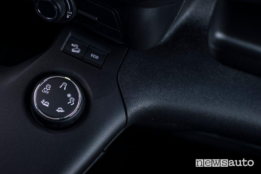 Comando Traction Control Select posto in abitacolo nel Toyota Proace City Van