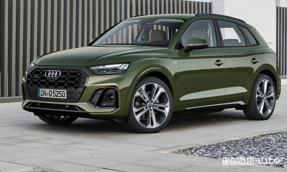 Vista di profilo Audi Q5 2021