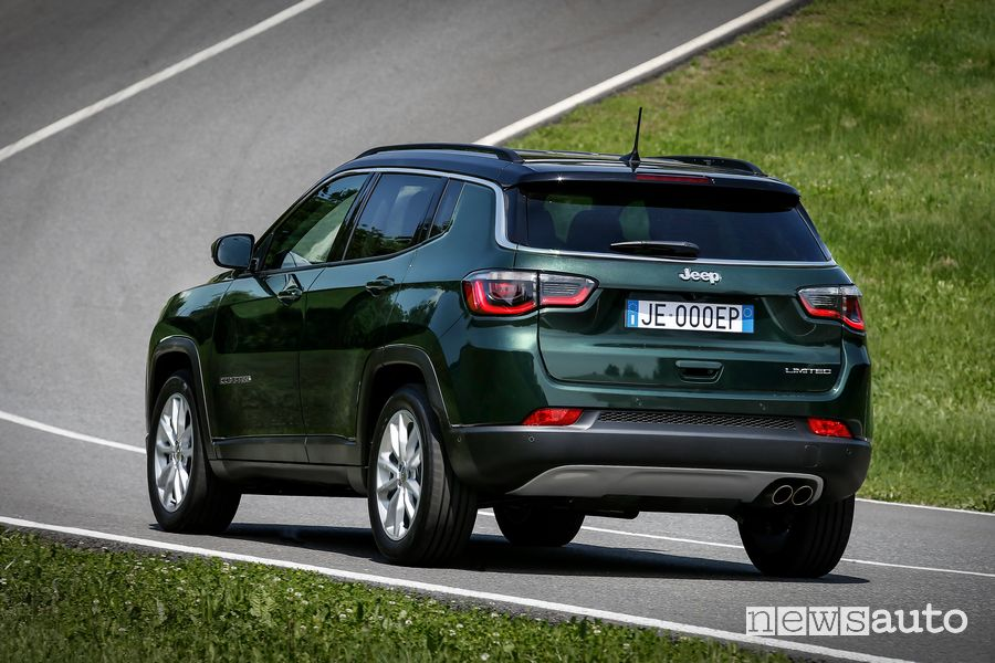 Vista posteriore Jeep Compass Limited 2020
