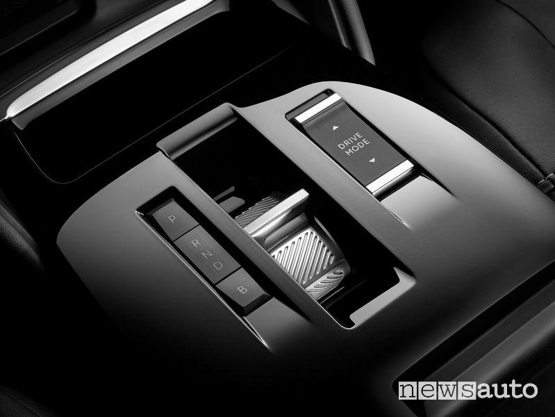 Selettore del cambio e modalità Brake consolle centrale abitacolo nuova Citroën ë-C4