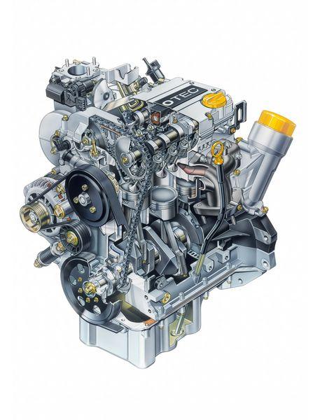 Motore tre cilindri Ecotec 1.0 12V sull'Opel Maxx, prototipo del 1995
