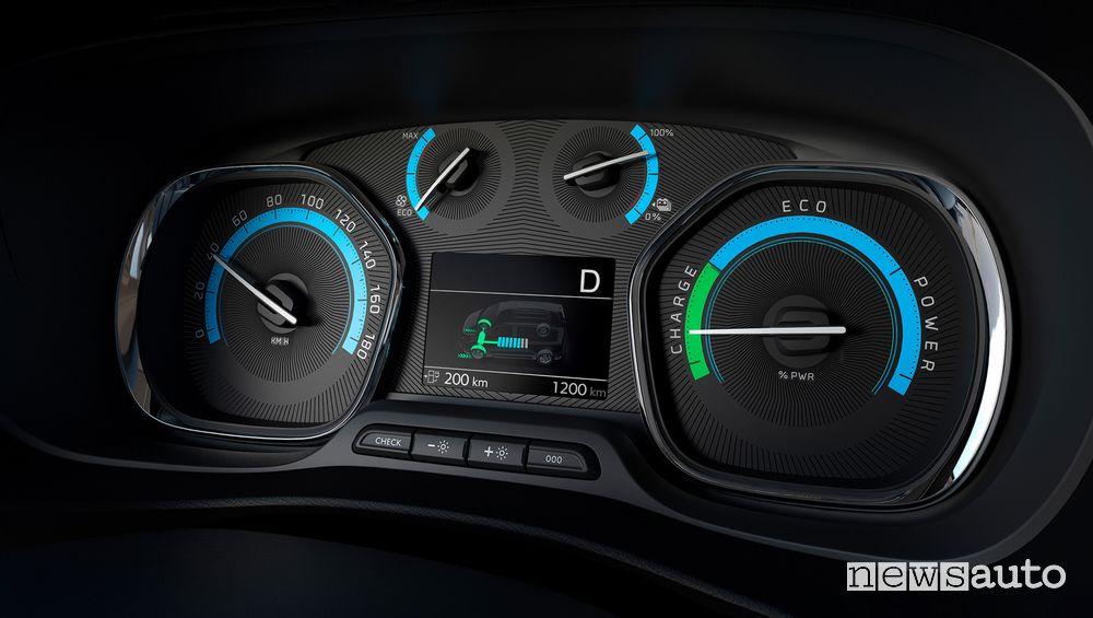 Quadro strumenti cruscotto Opel Zafira-e Life elettrica