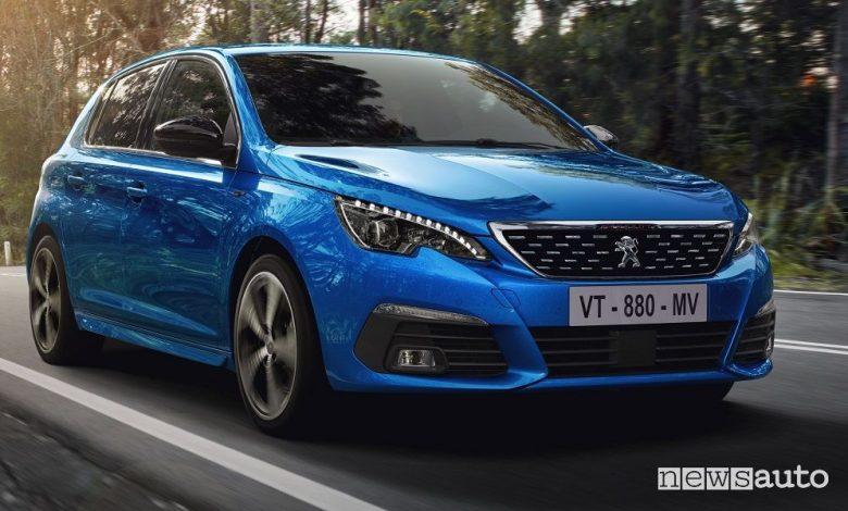 Vista di profilo Peugeot 308