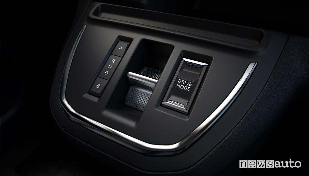 Comando Drive Mode modalità di guida Peugeot e-Traveller elettrico
