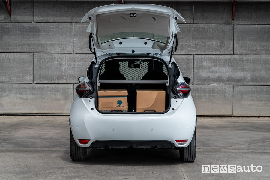 Bagagliaio aperto Renault Zoe Van