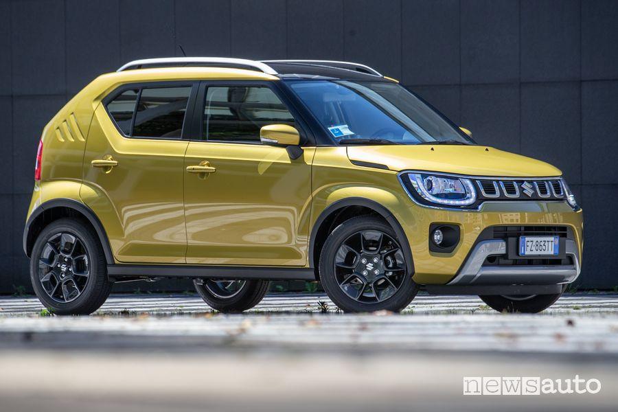 Vista laterale Suzuki Ignis Hybrid 2020 che ha fatto registrare un successo delle vendite