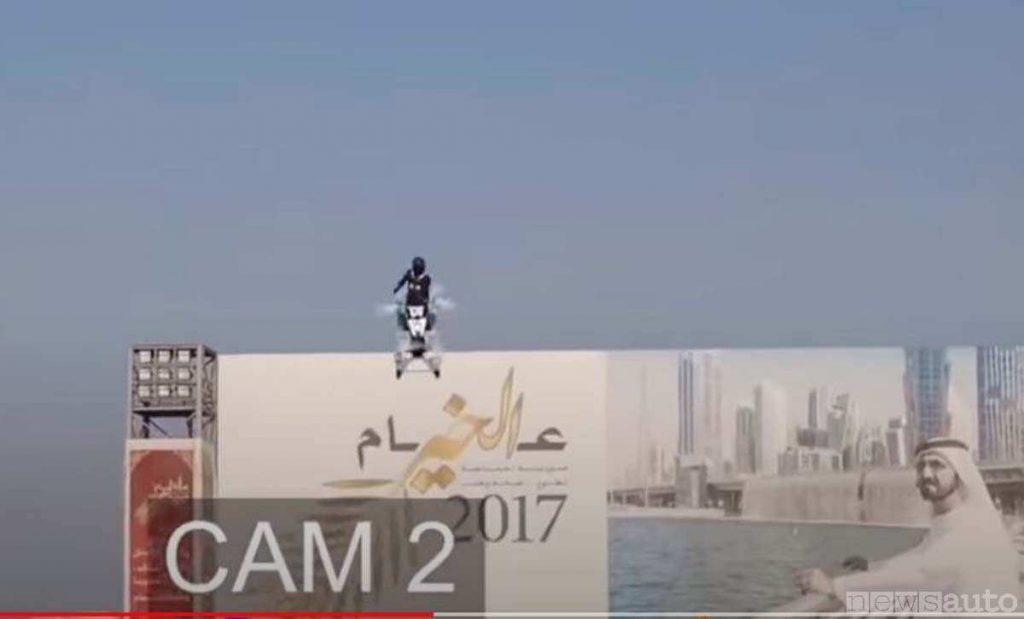 Il momento iniziale dell'avaria nel quale il drone inizia a segnalare problemi di stabilità,  perde quota ed il pilota nel perde anche il controllo