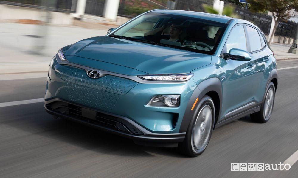 Autonomia auto elettriche Hyundai Kona Electric