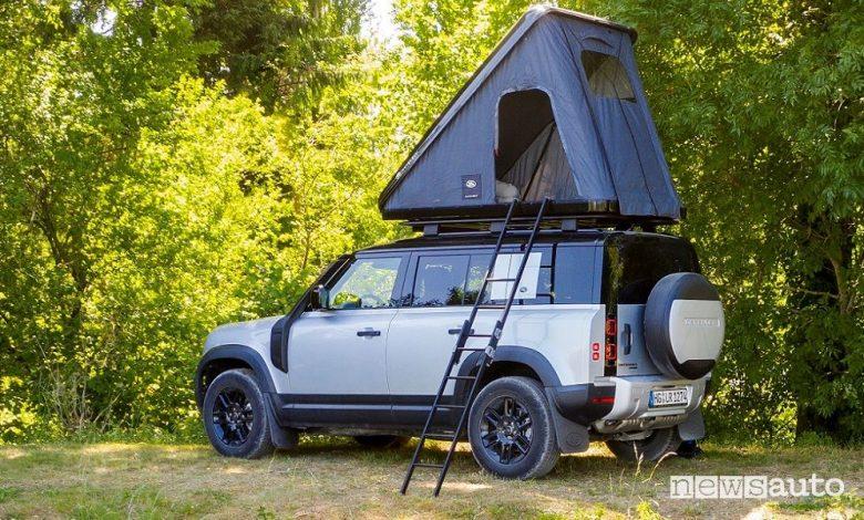 Scaletta per la tenda da tetto Autohome Land Rover Defender 110