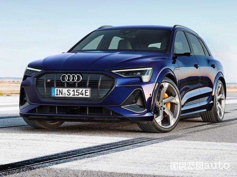 Vista di profilo Audi e-tron S