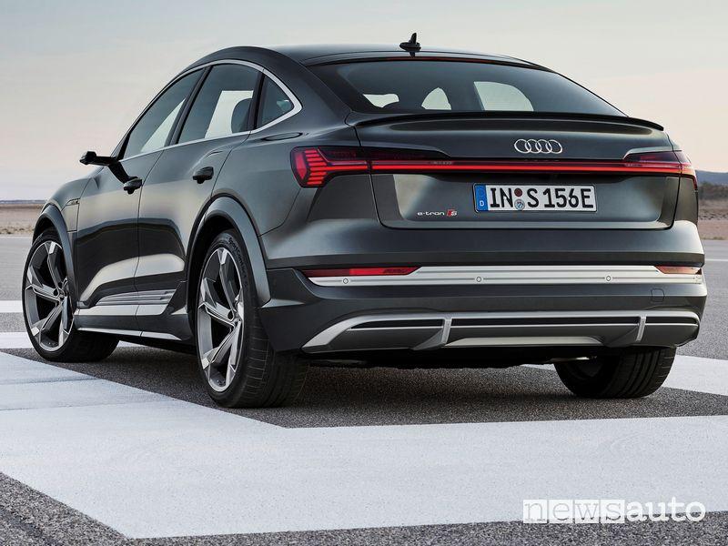 Vista posteriore Audi e-tron S Sportback