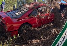 Photo of Incidente durante il test drive, Ferrari F40 distrutta