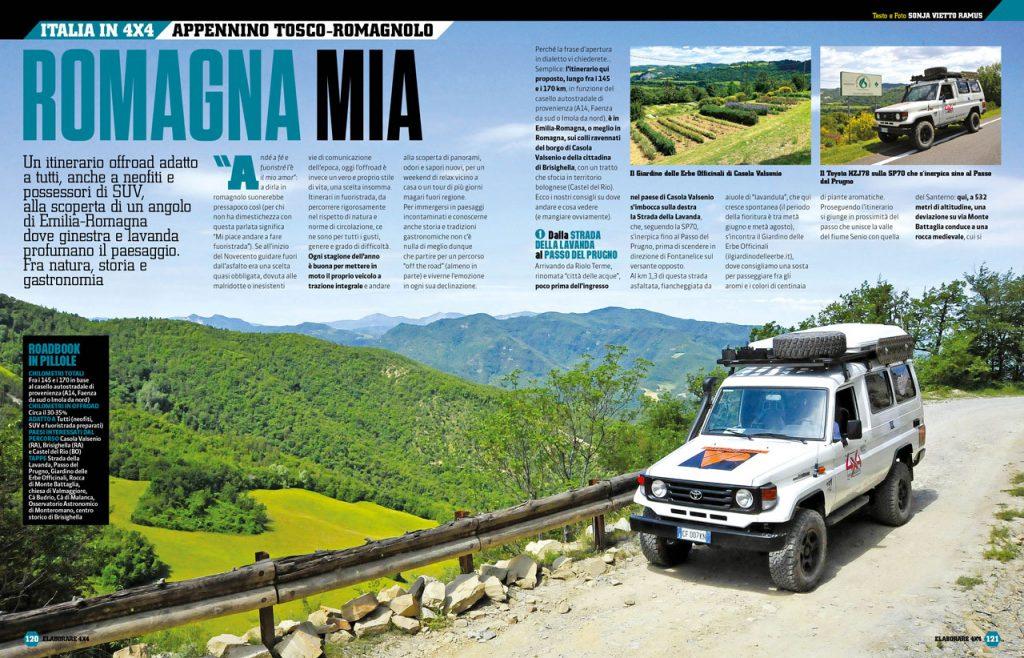 Alla scoperta di scenari naturali con il fuoristrada sull'Appennino Tosco Emiliano, Toyota Landa Cruiser da viaggio