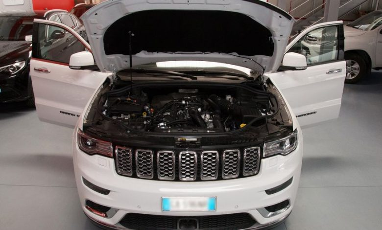 Vano motore Jeep Grand Cherokee diesel trasformata a metano dual fuel