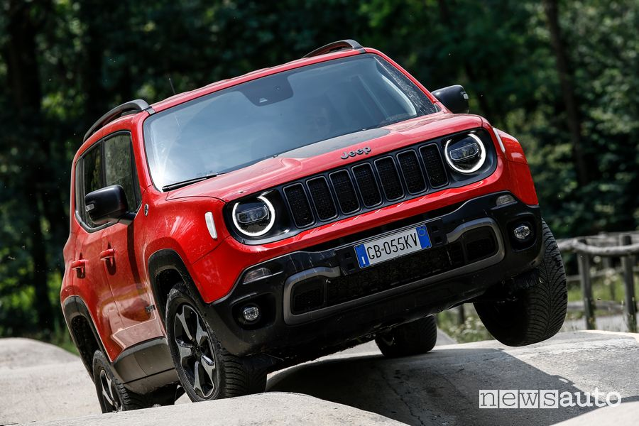 Jeep Renegade 4xe Trailhawk ibrida plug-in in twist