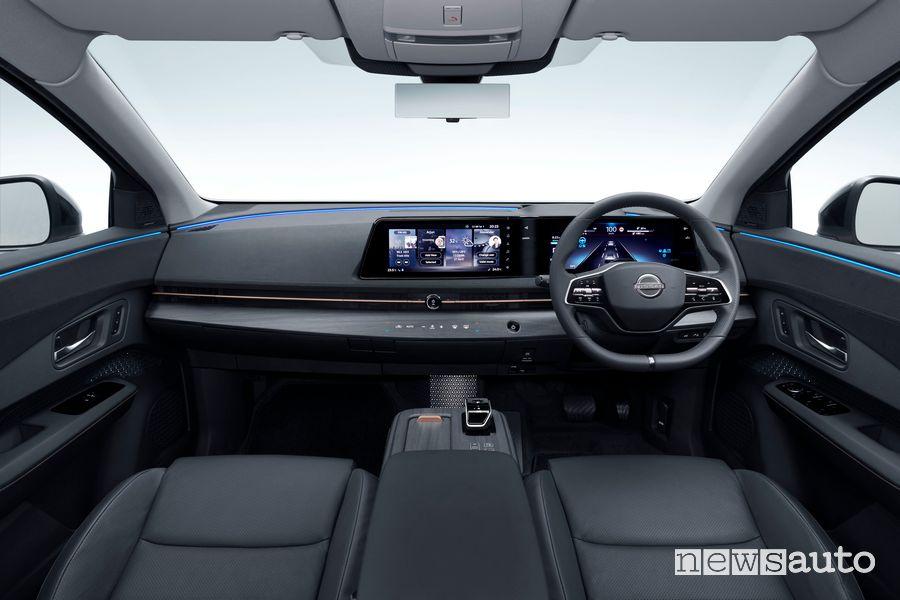 Abitacolo Nissan Ariya con guida a destra