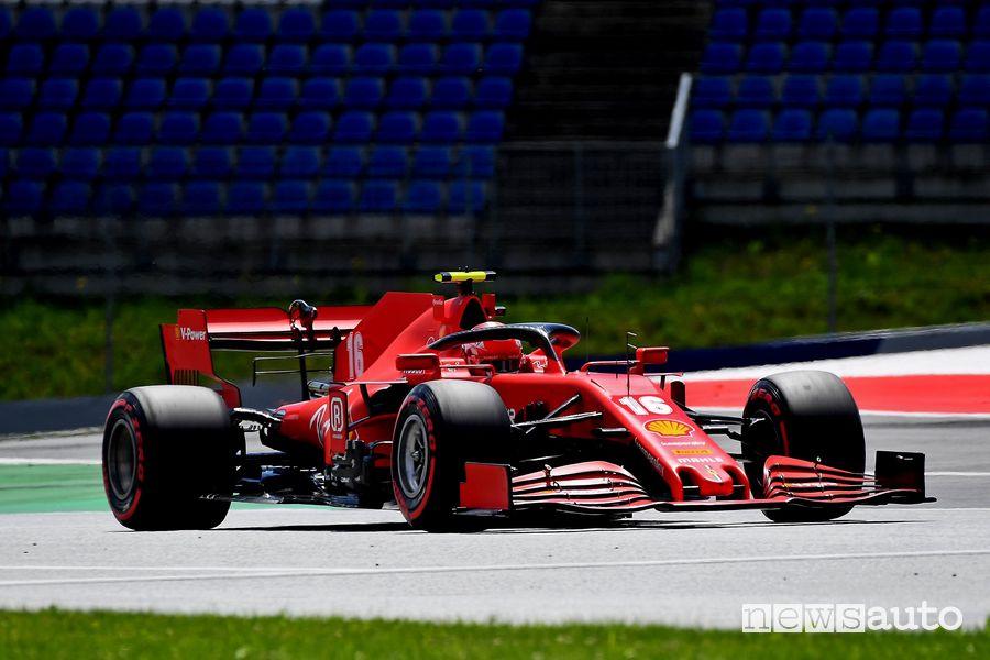 Leclerc Ferrari 7° posto griglia di partenza del Gp d'Austria 2020
