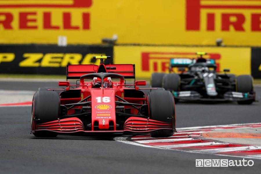 F1 Gp d'Ungheria 2020 Ferrari doppiate