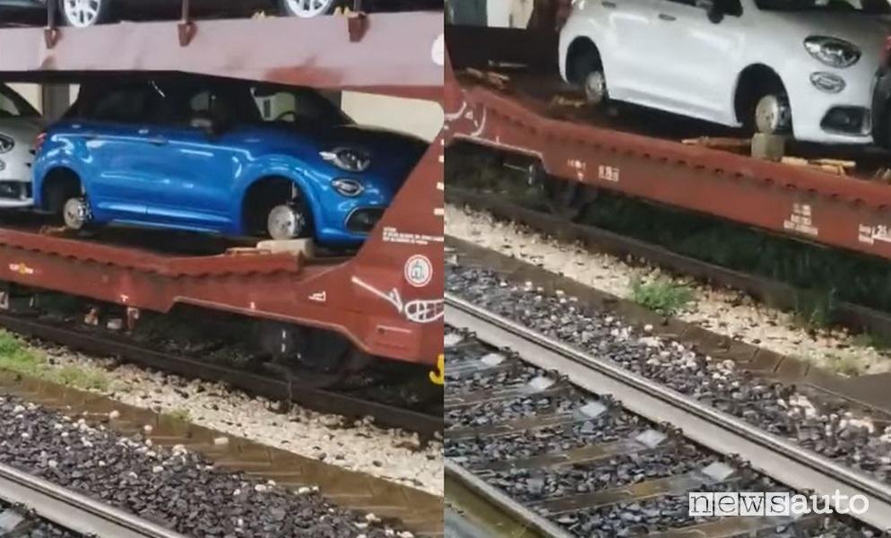 Furti ruote auto nuove fiat 500X treno merci