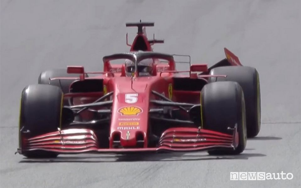 Incidente Ferrari Vettel-Leclerc al Gp di Stiria 2020