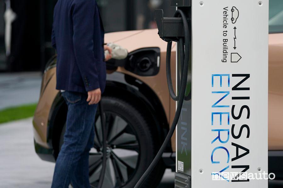 Ricarica Nissan Ariya crossover elettrico