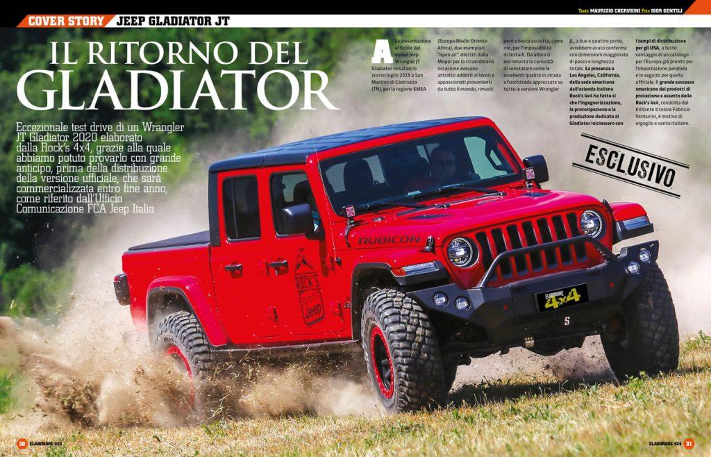 Jeep Gladiator JT un bel mezzo per praticare fuoristrada anche impegnativo