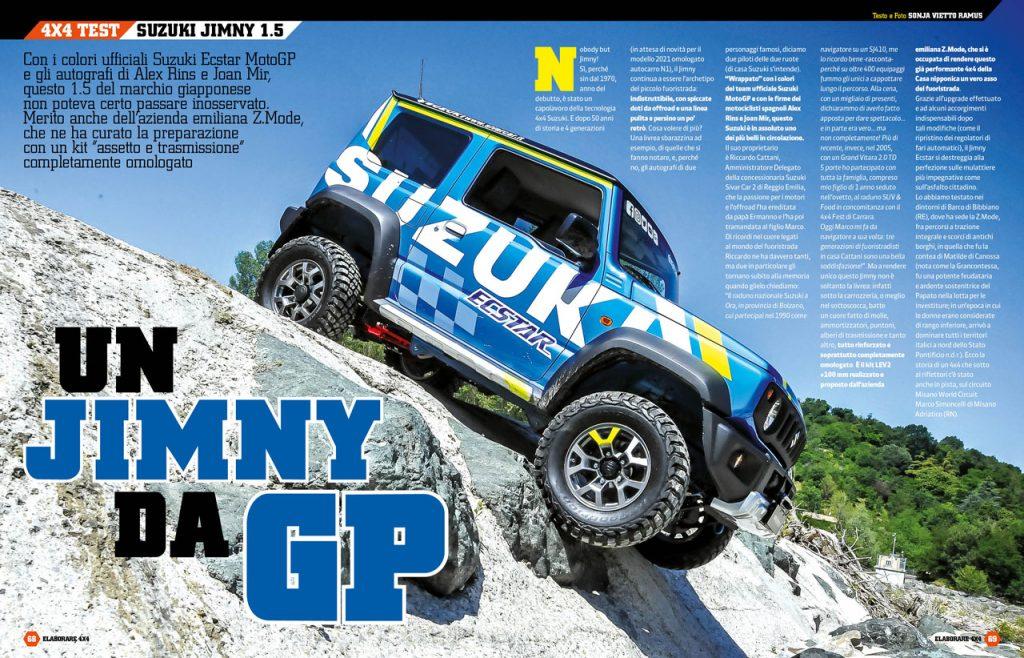 Nuovo Suzuki Jimny preparato anche per l'off-road più impegnativo da Z.Mode