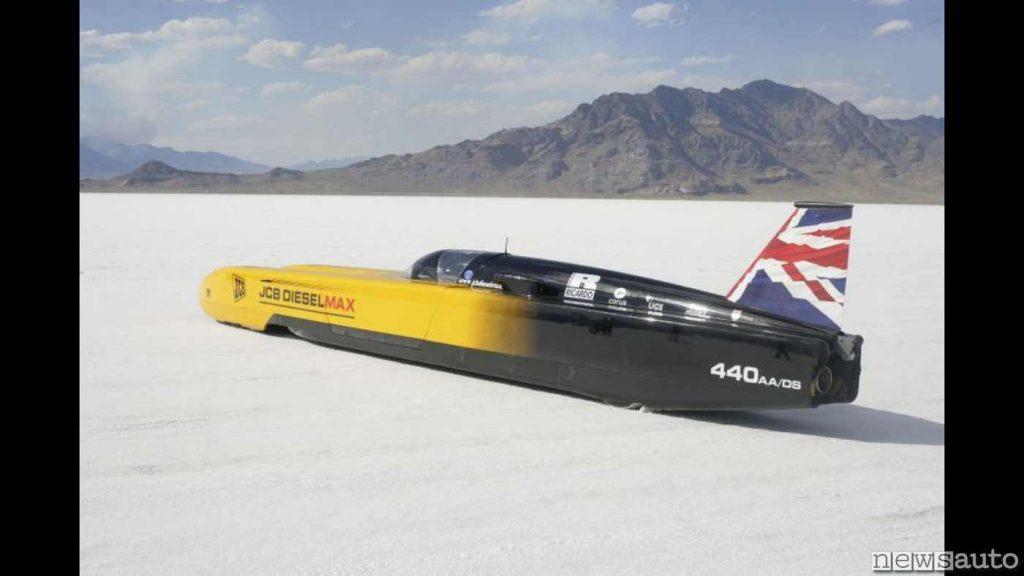 JCB DieselMax record del mondo di velocità per un veicolo diesel