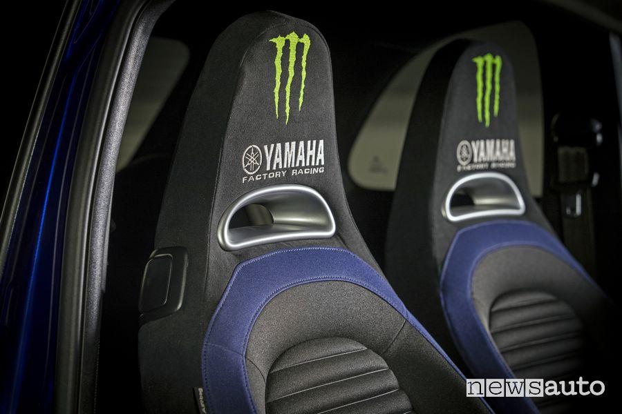 Poggiatesta sedili anteriori Abarth 595 Monster Energy Yamaha