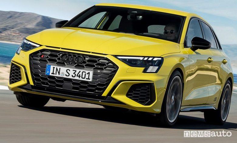 Nuova Audi S3 Sportback e Sedan, caratteristiche e prezzi