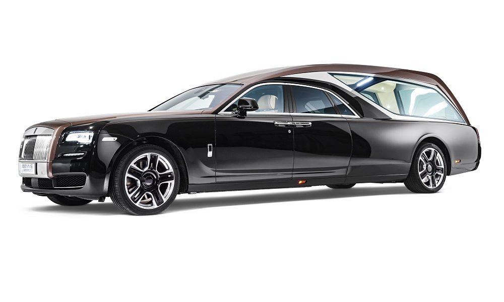 Auto funebre di lusso, una vera Rolls Royce