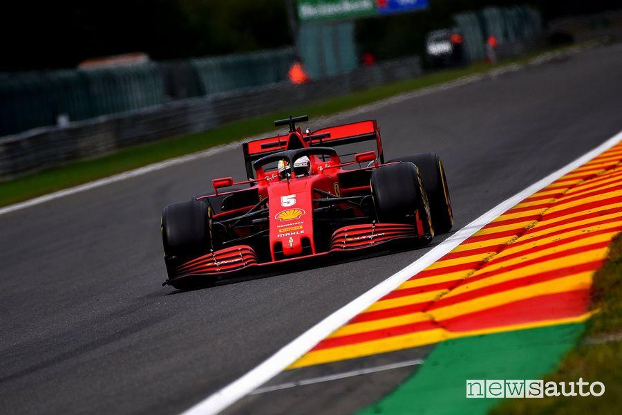 Qualifiche F1 Gp Belgio 2020 Ferrari Vettel