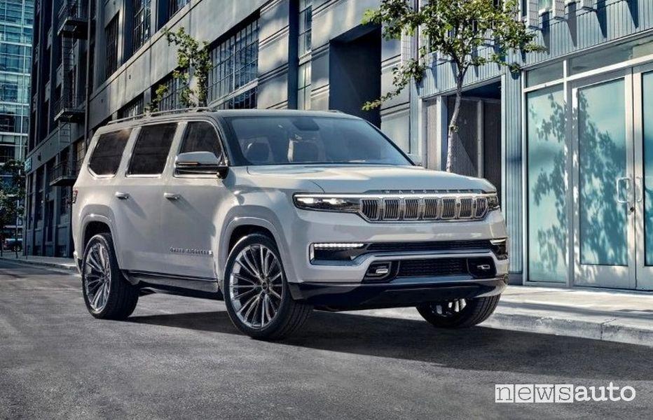 Vista di profilo Jeep Grand Wagoneer Concept