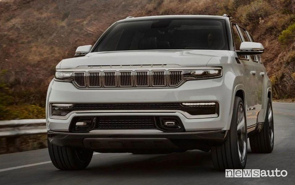 Vista anteriore Jeep Grand Wagoneer Concept