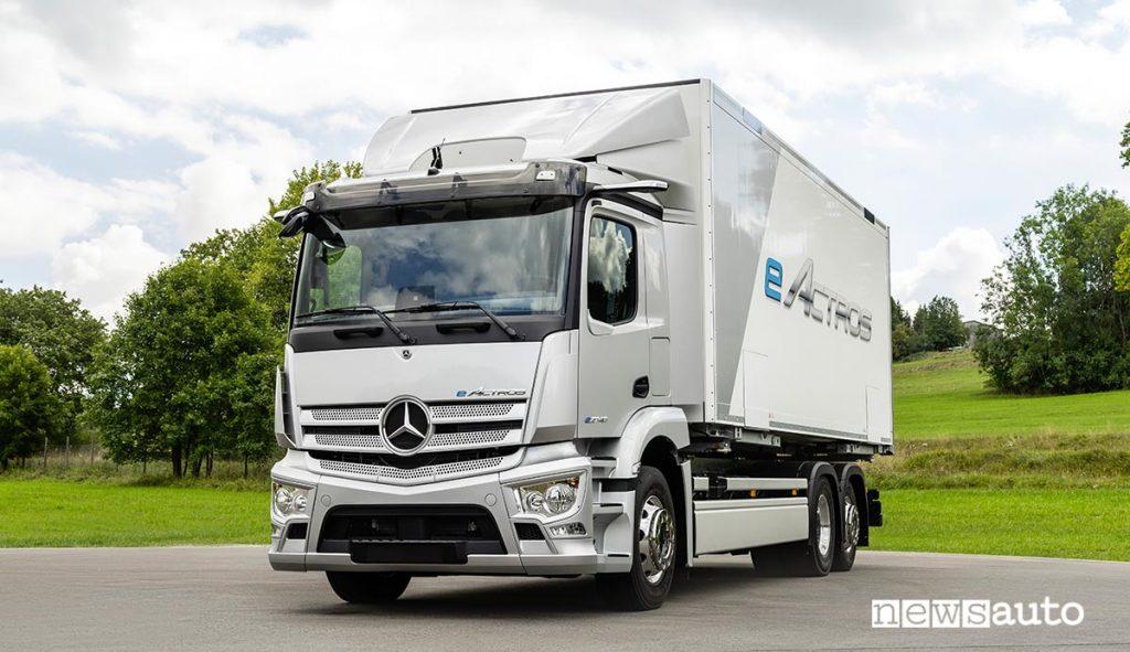 Mercedes-Benz eActros camion elettrico per distribuzione