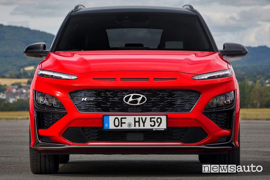 Frontale nuova Hyundai Kona N Line