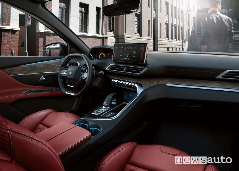 Plancia strumenti i-cockpit abitacolo nuova Peugeot 3008