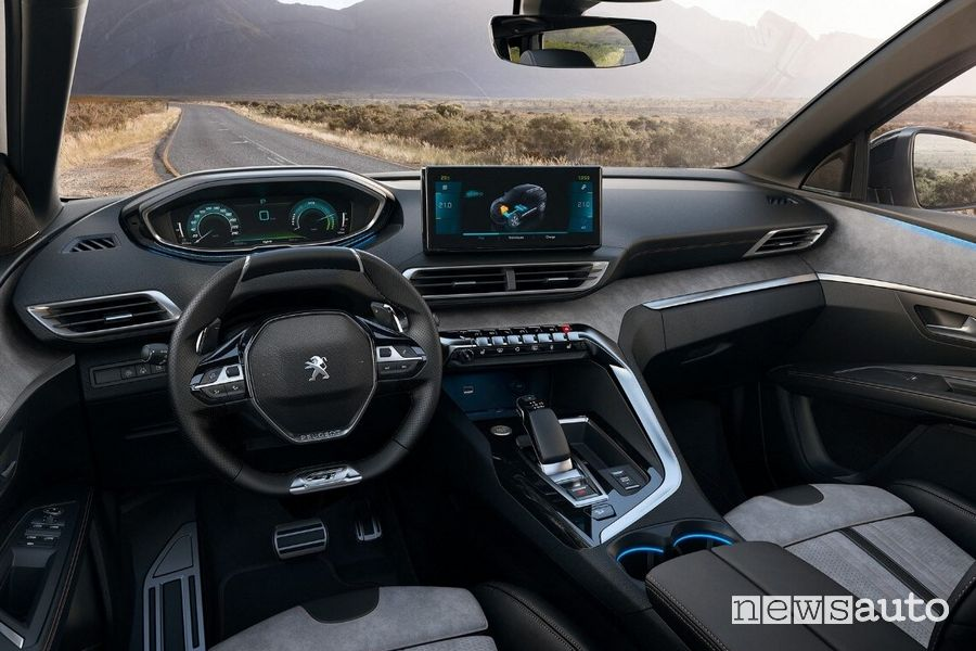 Plancia strumenti i-Cockpit abitacolo nuova Peugeot 3008 Hybrid4