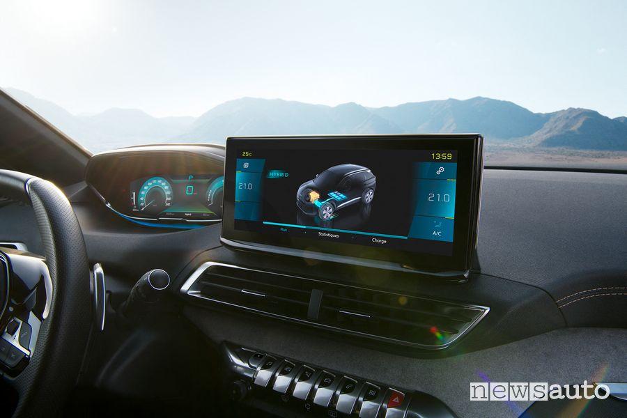 """Touch screen centrale da 10"""" nuova Peugeot 3008 Hybrid4"""