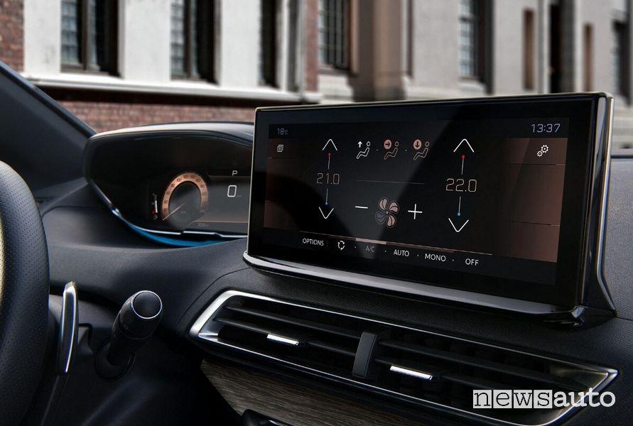 """Touch screen centrale da 10"""" clima nuova Peugeot 3008"""