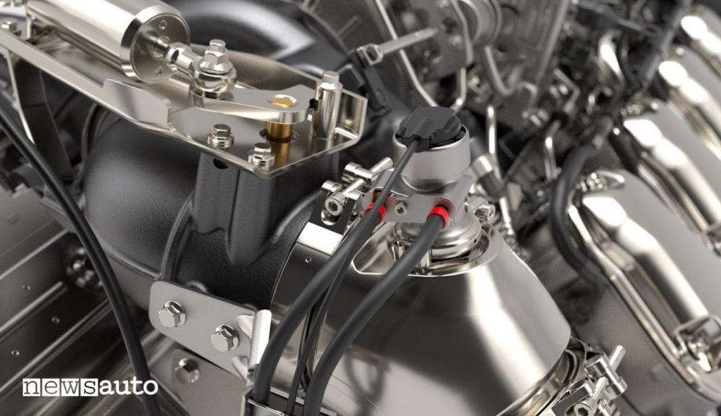 Iniettore AdBlue sul nuovo motore V8 Scania