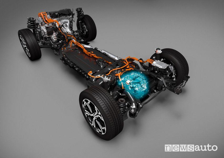 Doppio motore elettrico, batteria Suzuki Across ibrido plug-in