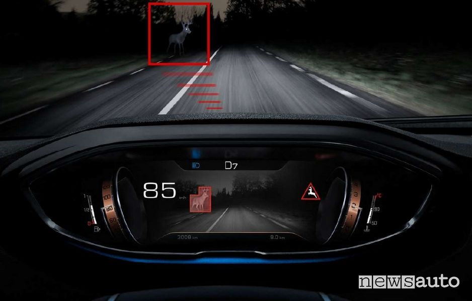 Night vision ADAS Peugeot 3008