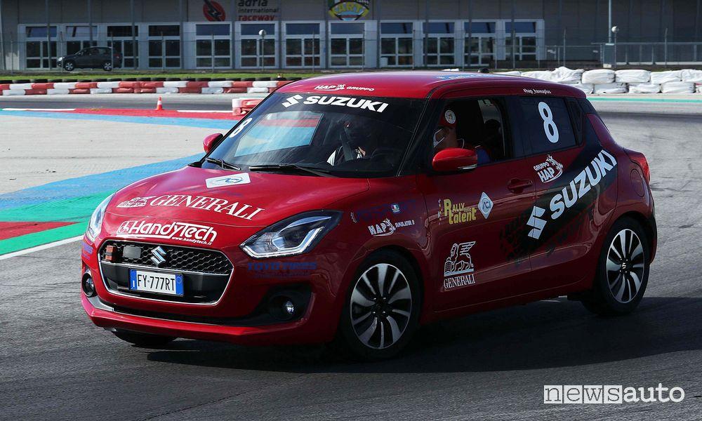 Suzuki Swift Sport all'Aci Rally Italia Talent 2020 ad Adria