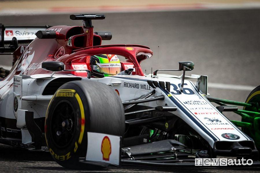 Mick Schumacher Alfa Romeo prove libere Gp Eifel F1 2020 al Nürburgring
