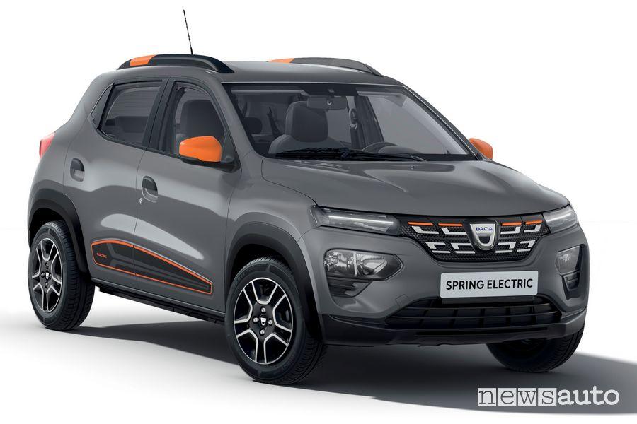 Vista di profilo Dacia Spring Electric
