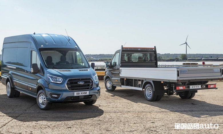 Ford Transit 5 t furgone e cassone
